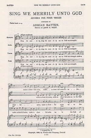Batten: Sing We Merrily Unto God SATB published by Novello