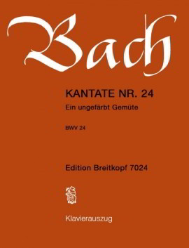 Bach: Cantata No 24 published by Breitkopf & Hartel
