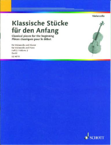 Classical Pieces for the Beginning Volume 2 for Cello published by Schott