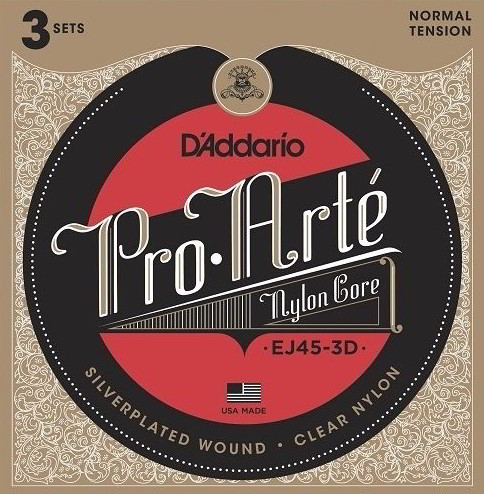 Pro Arte EJ45 Classical Guitar String Set - Normal Tension (Pack of 3)