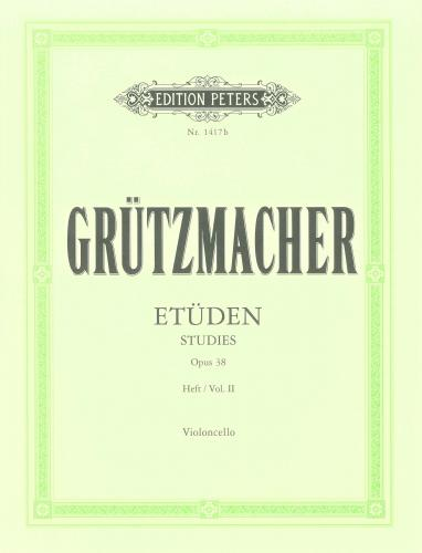 Grutzmacher: 24 Studies Opus 38 Volume 2 for Cello published by Peters