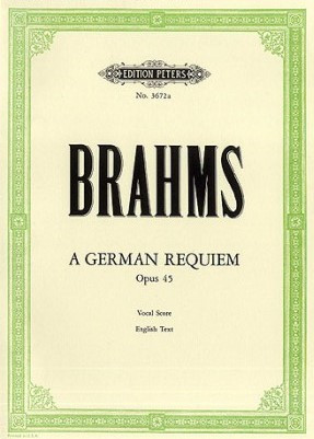 Brahms: A German Requiem published by Peters - Vocal Score