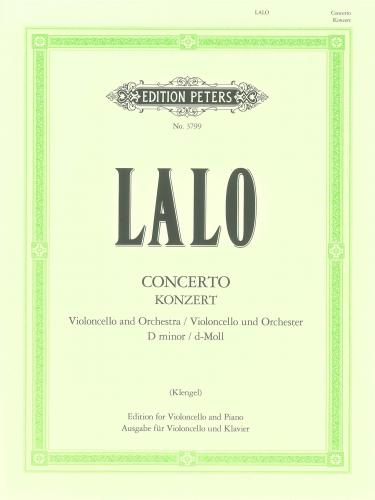 Lalo: Concerto in D Minor for Cello published by Peters Edition