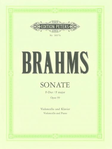 Brahms: Sonata in F Opus 99 for Cello published by Peters Edition