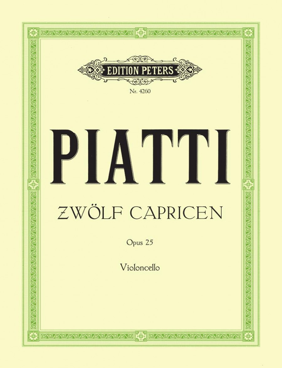 Piatti: 12 Caprices Opus 25 for Cello published by Peters