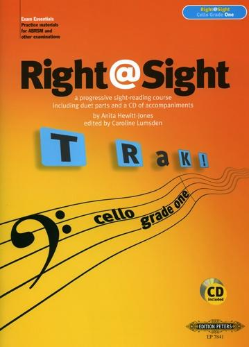 Right @ Sight Grade 1 for Cello Book & CD published by Peters