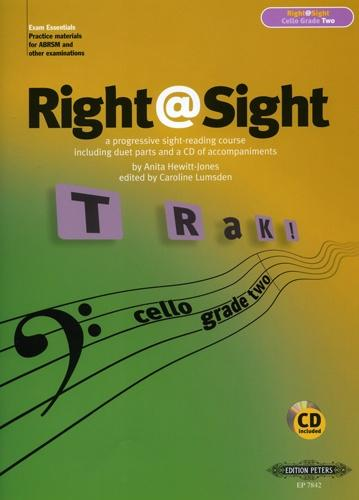 Right @ Sight Grade 2 for Cello Book & CD published by Peters