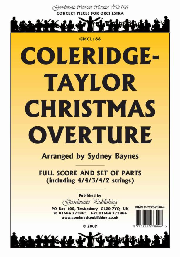Coleridge-Taylor: Christmas Overture Orchestral Set published by Goodmusic