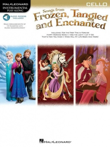 Songs From Frozen, Tangled And Enchanted - Cello published by Hal Leonard (Book/Online Audio)