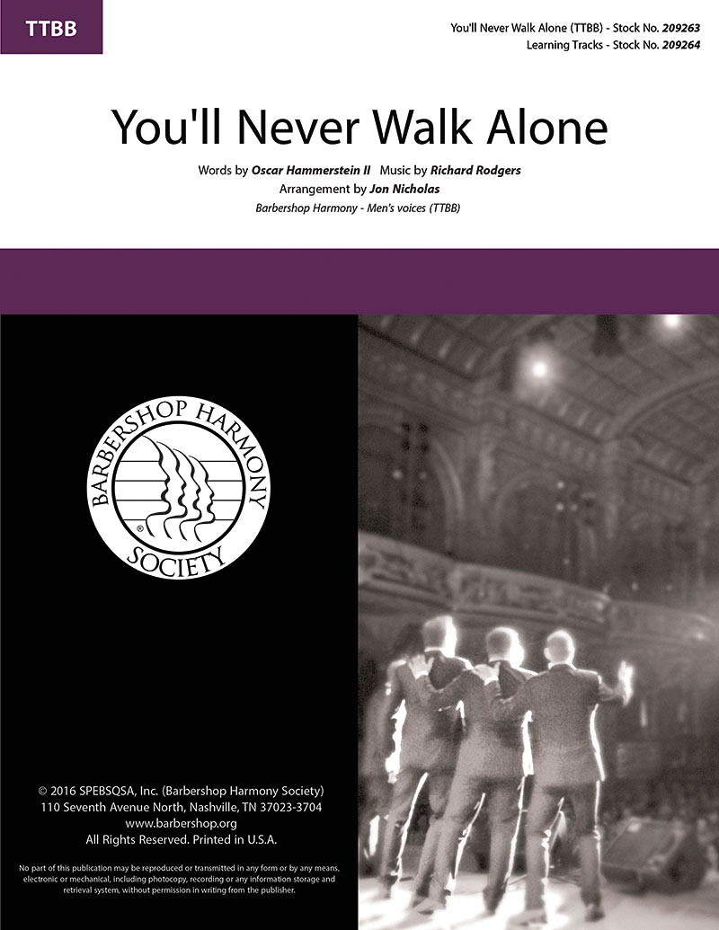 You'll Never Walk Alone TTBB published by Barbershop Harmony Society