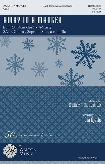 Away In A Manger SATB by Gjeilo published by Hal Leonard