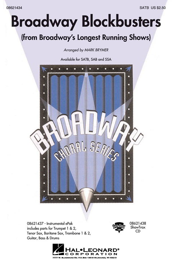 Broadway Blockbusters Medley SATB published by Hal Leonard