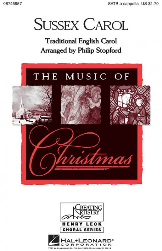 On Christmas Night (The Sussex Carol) SATB by Stopford published by Hal Leonard