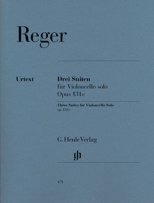 Reger: Three Suites for Cello Opus 131c published by Henle