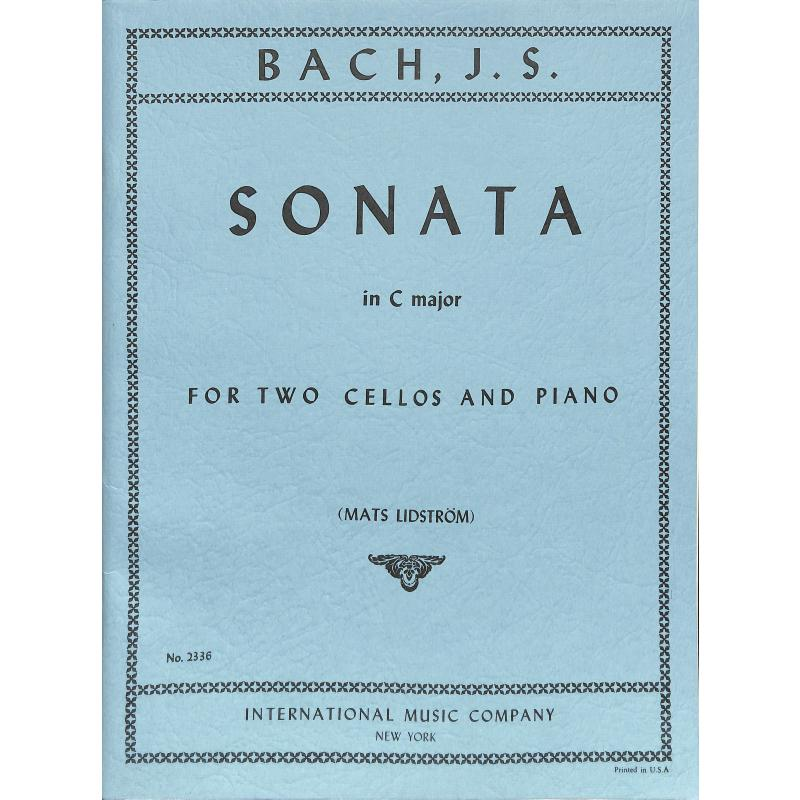 Bach: Sonata in C for 2 Cellos & Piano published by IMC