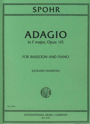 Spohr: Adagio for Bassoon published by IMC