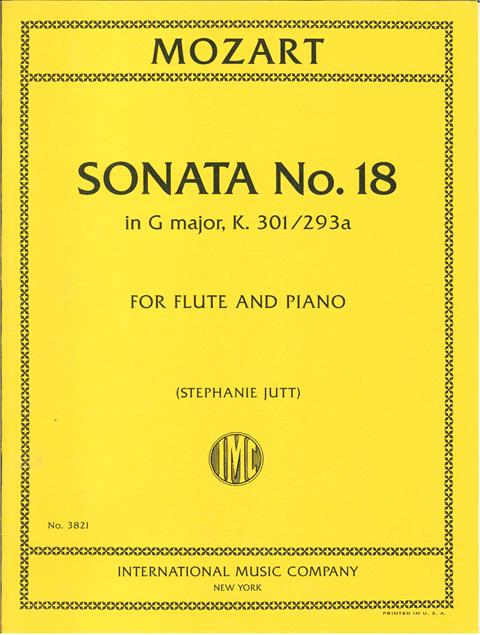 Mozart: Sonata No.18 in G K301 for Flute published by IMC