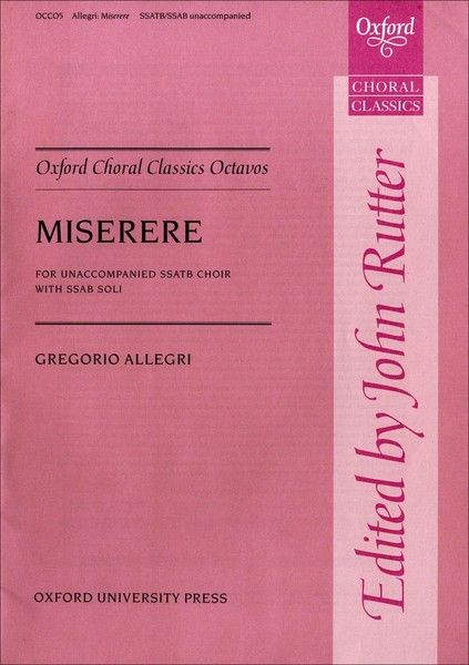 Allegri: Miserere SATB published by OUP