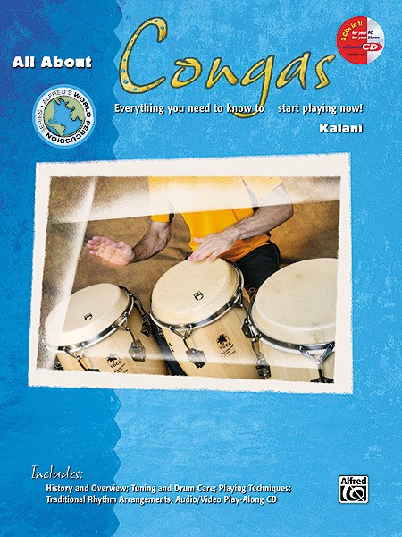 All About Congas Book & CD by Kalani published by Alfred