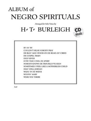 Album of Negro Spirituals Low Voice Book & CD published by Alfred