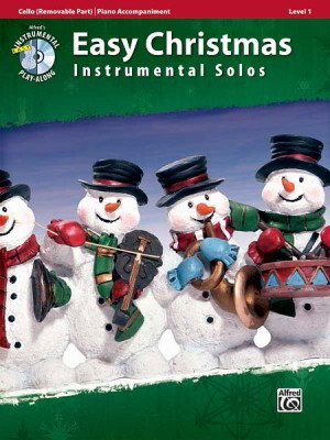 Easy Christmas Instrumental Solos, Level 1 Book & CD published by Alfred - Cello