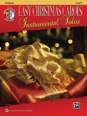 Easy Christmas Carols Instrumental Solos, Level 1 Book & CD published by Alfred - Trombone