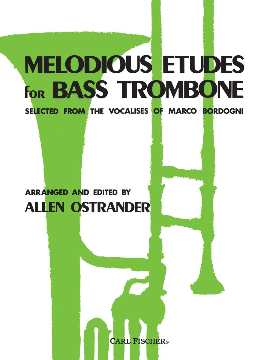 Bordogni: Melodious Etudes for Bass Trombone published by Fischer