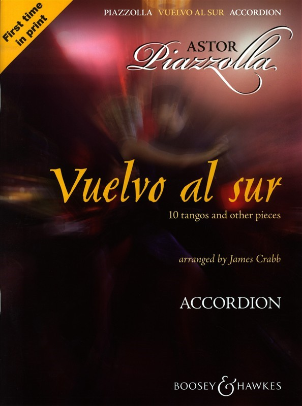 Vuelvo al sur for Accordion bay Piazzolla published by Booey & Hawkes