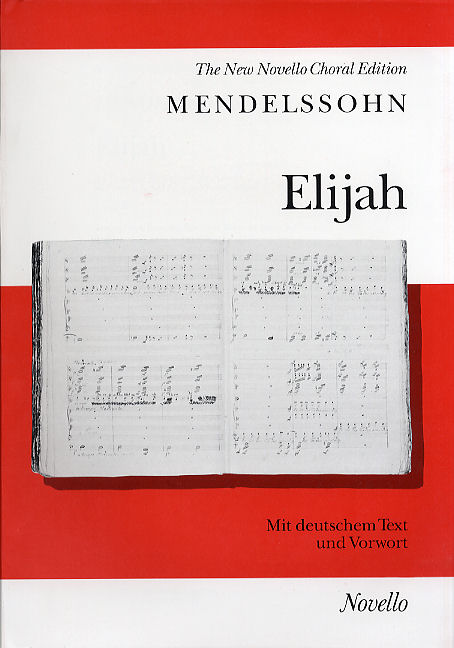Mendelssohn: Elijah published by Novello - Vocal Score