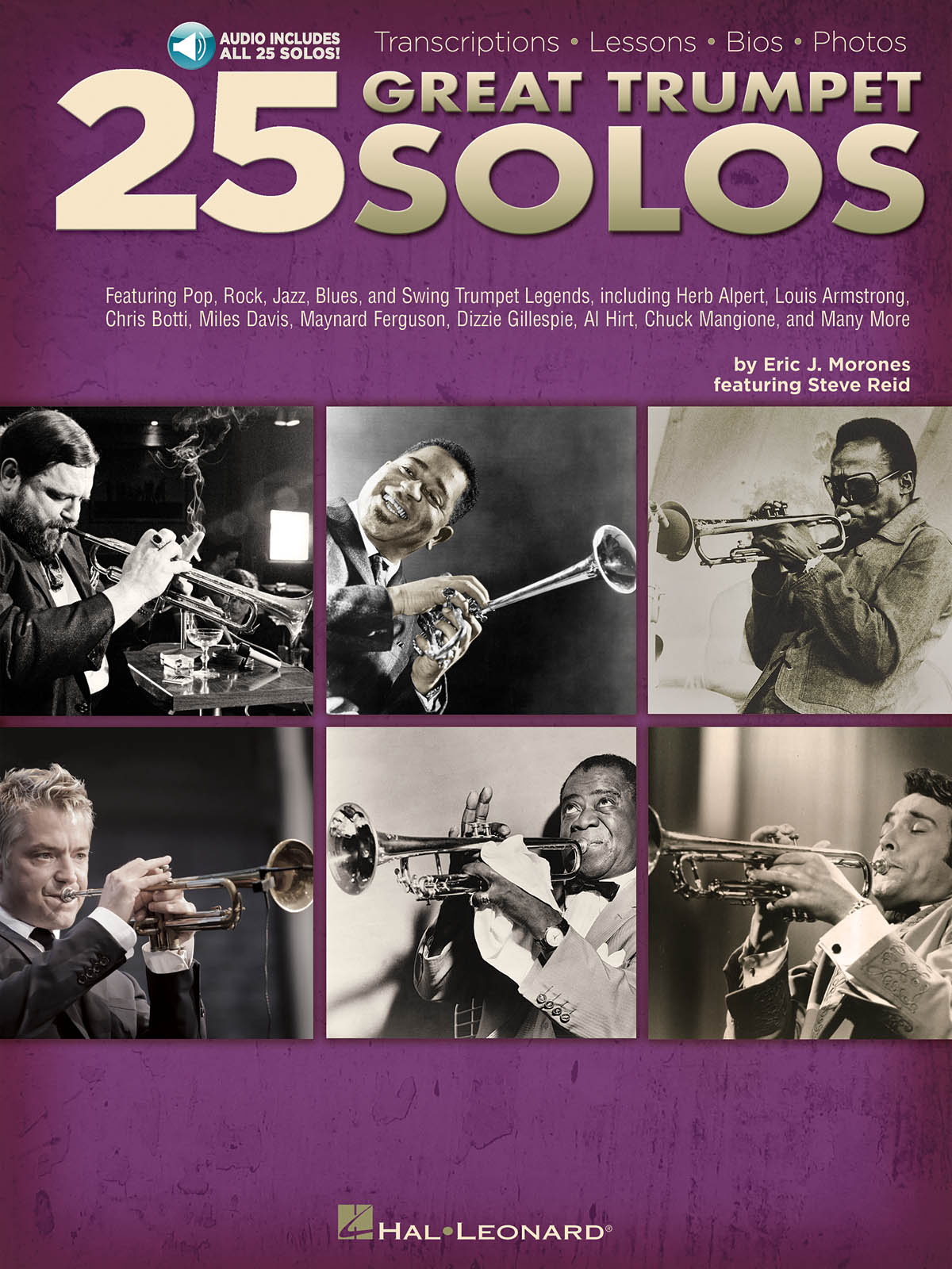 25 Great Trumpet Solos published by Hal Leonard (Book/Online Audio)