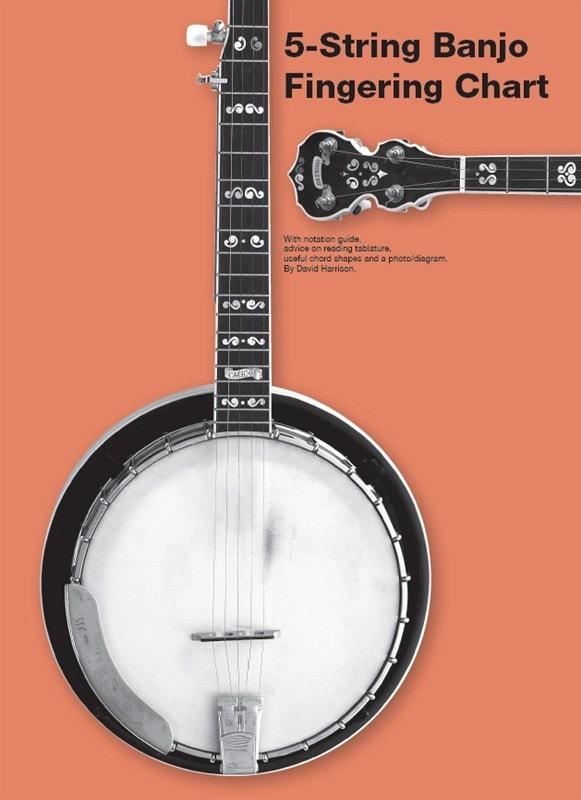 5-String Banjo Fingering Chart published by Chester