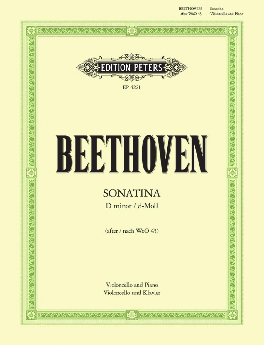 Beethoven: Sonatina in D Minor for Cello published by Peters Edition