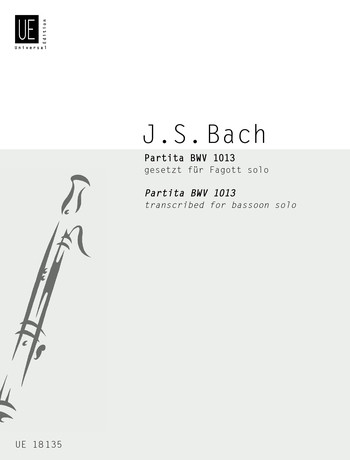 Partita BWV 1013 by Bach for Bassoon published by Universal Edition