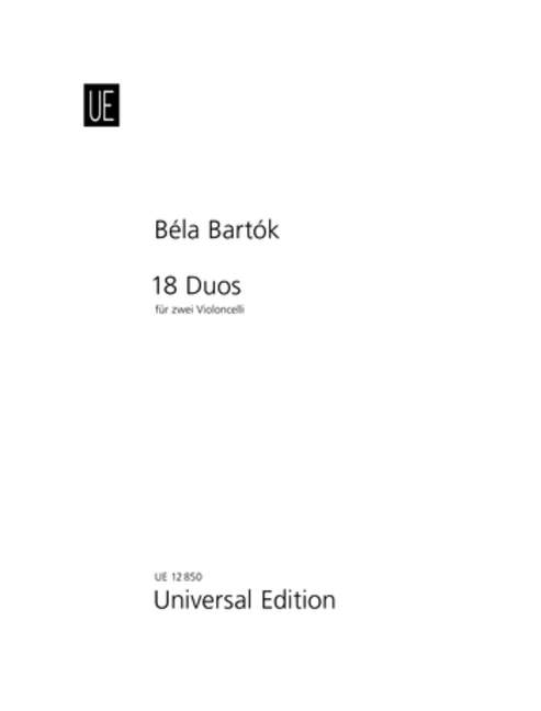 Bartok: 18 Duets for Two Cellos published by Universal Edition