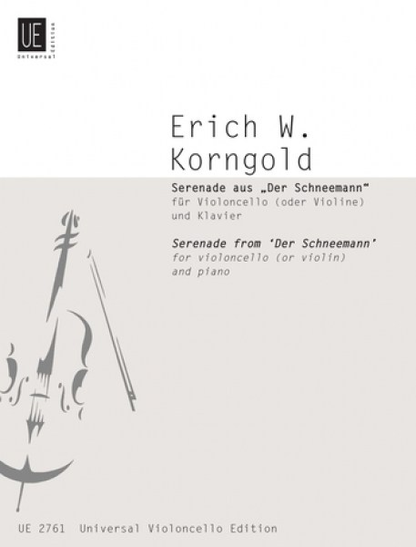 Korngold: Serenade from the Snowman for Cello published by Universal Edition