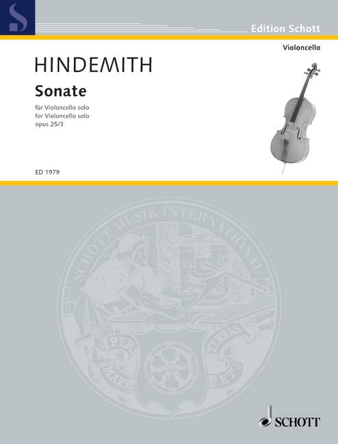 Hindemith: Sonata for Solo Cello Opus 25/3 published by Schott
