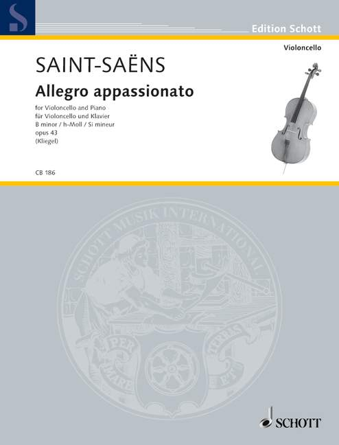 Saint-Saens: Allegro Appassionato for Cello published by Schott