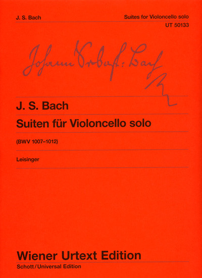 Bach: 6 Solo Suites for Cello published by Wiener Urtext
