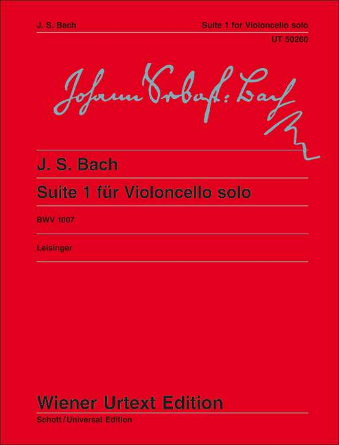 Bach: Suite No 1 BWV1007 for Cello published by Wiener Urtext
