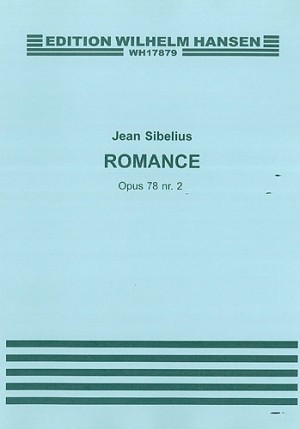 Sibelius: Romance Opus 78 No 2 for Violin or Cello published by Hansen