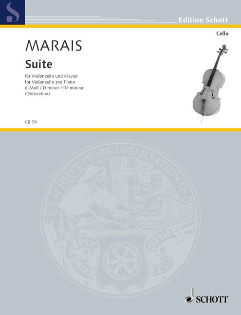 Marais: Suite in D Minor for Cello published by Schott
