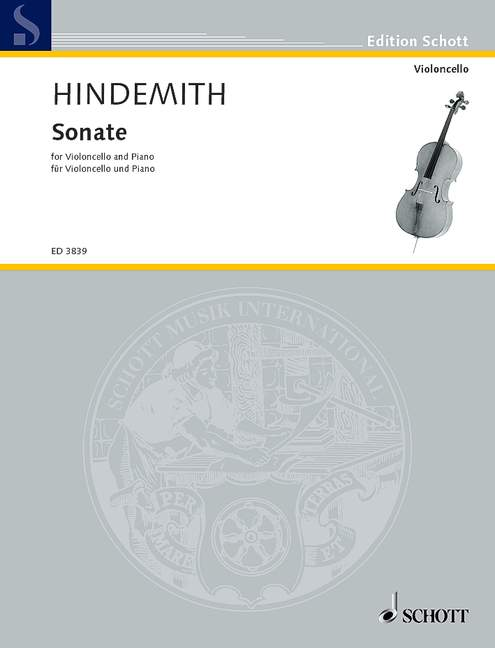 Hindemith: Sonata for Cello published by Schott