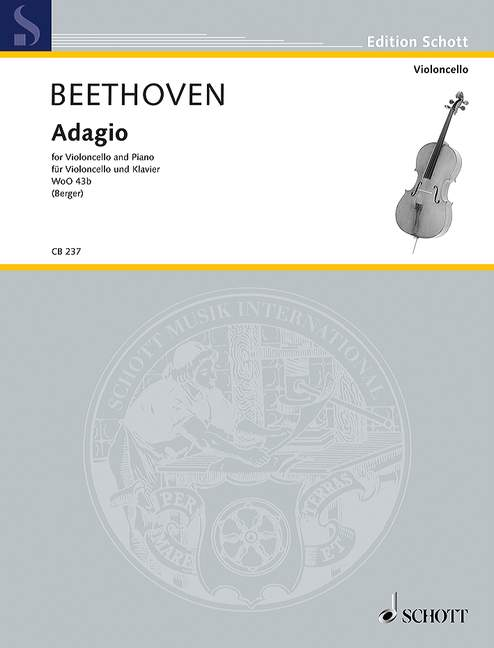 Beethoven: Adagio WoO 43b (179b) for Cello published by Schott