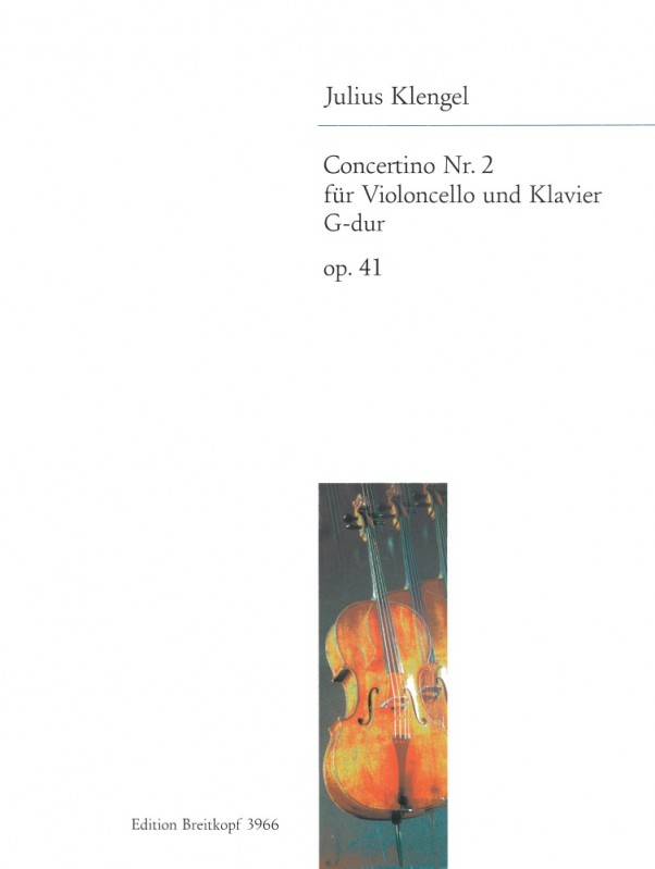 Klengel: Concertino No. 2 in G major Opus 41 for Cello published by Breitkopf