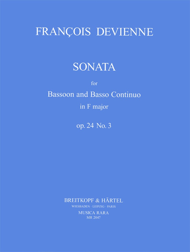 Devienne: Sonata in F Op.24 No.3 for Bassoon published by Breitkopf