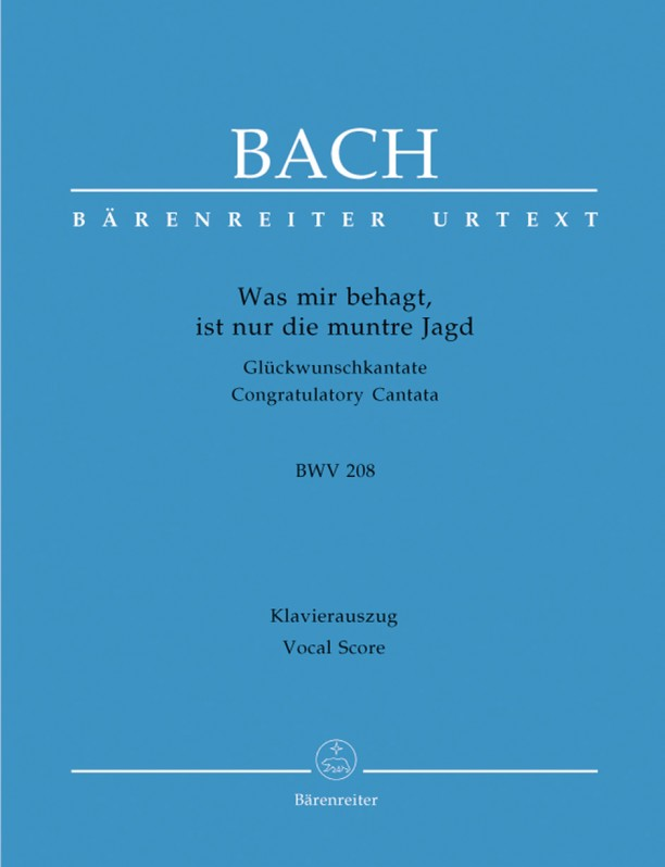 Bach: Cantata No 208: Was mir behagt (BWV 208) published by Barenreiter Urtext - Vocal Score