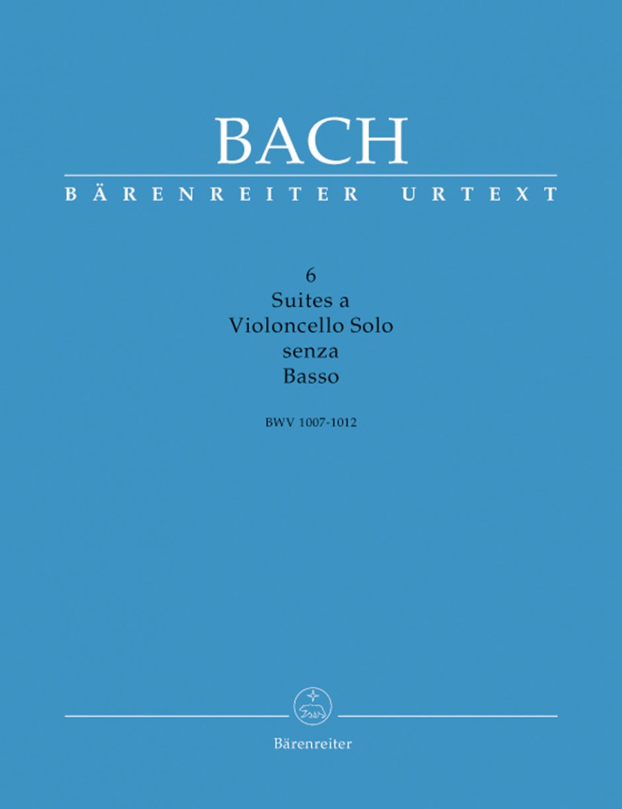 Bach: 6 Solo Suites for Cello (3 volume edition) published by Barenreiter