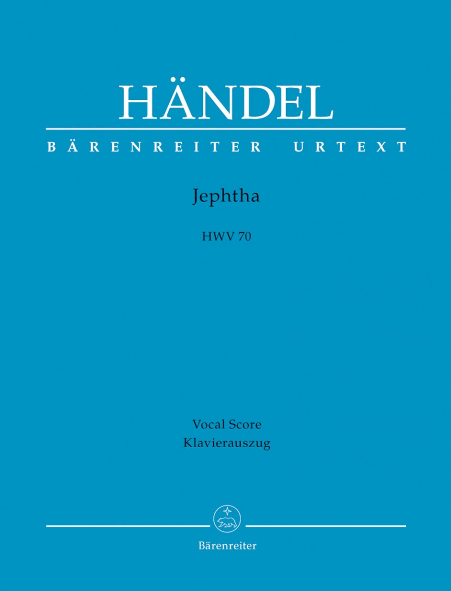 Handel: Jephtha (HWV 70) published by Barenreiter Urtext - Vocal Score