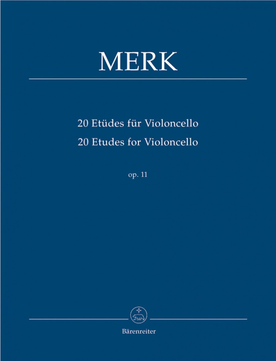 Merk: 20 Etudes Opus 11 for Cello published by Barenreiter