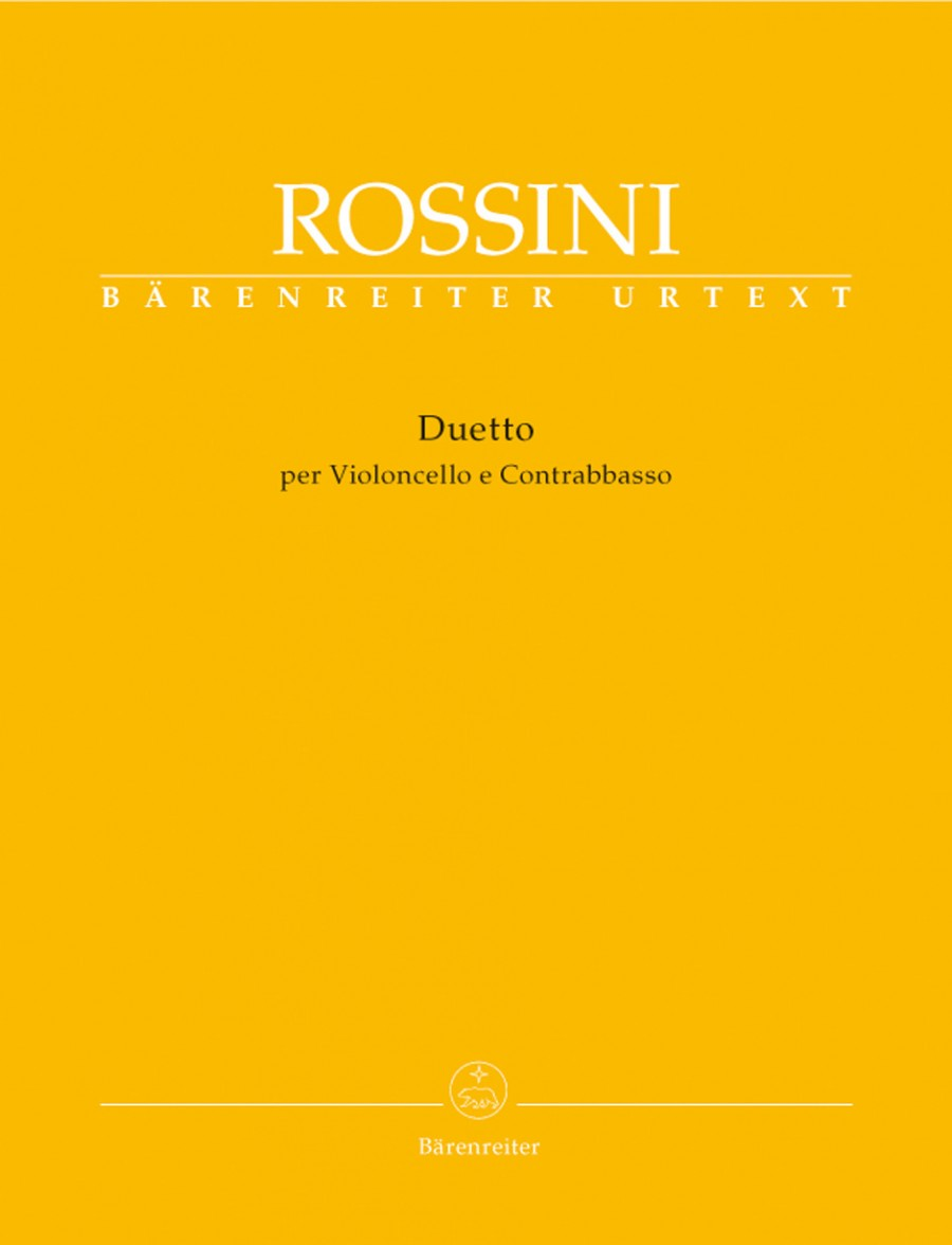 Rossini: Duet for Cello & Double Bass published by Barenreiter